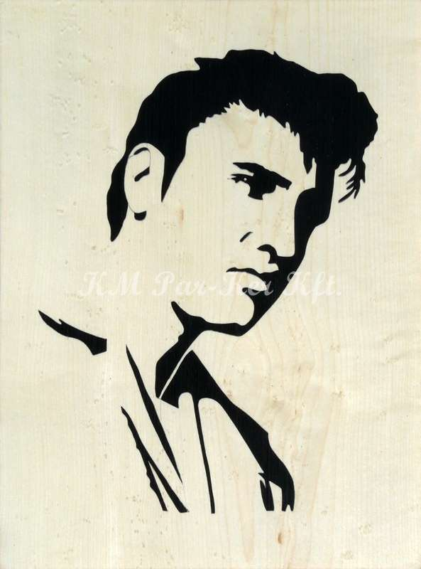 wood inlay art -Elvis Presley