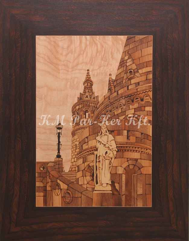 wood inlay art -Fisherman's Bastion, Budapest
