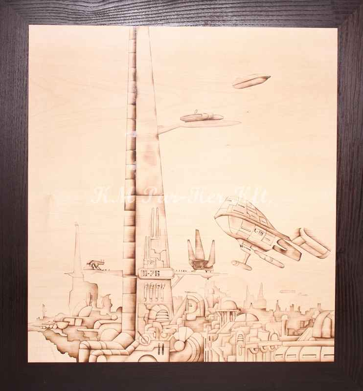 wood inlay art -Futurama 2