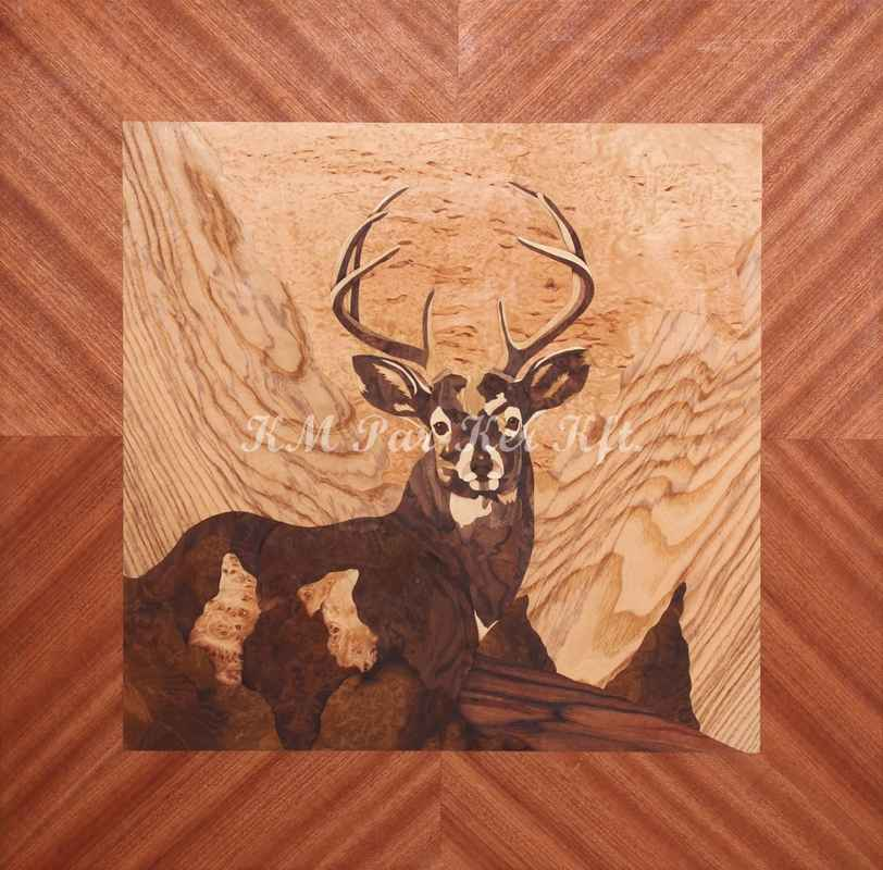 wood inlay art -It is not a miracle, that this is a deer
