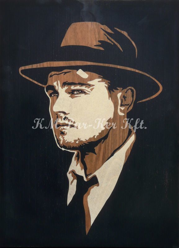 wood inlay art -Leonardo DiCaprio
