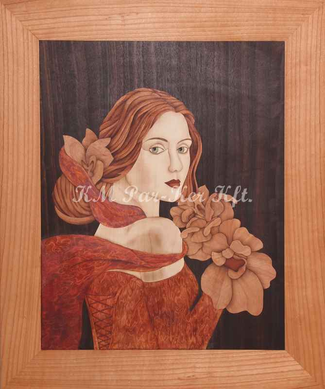wood inlay art -Pure innocence