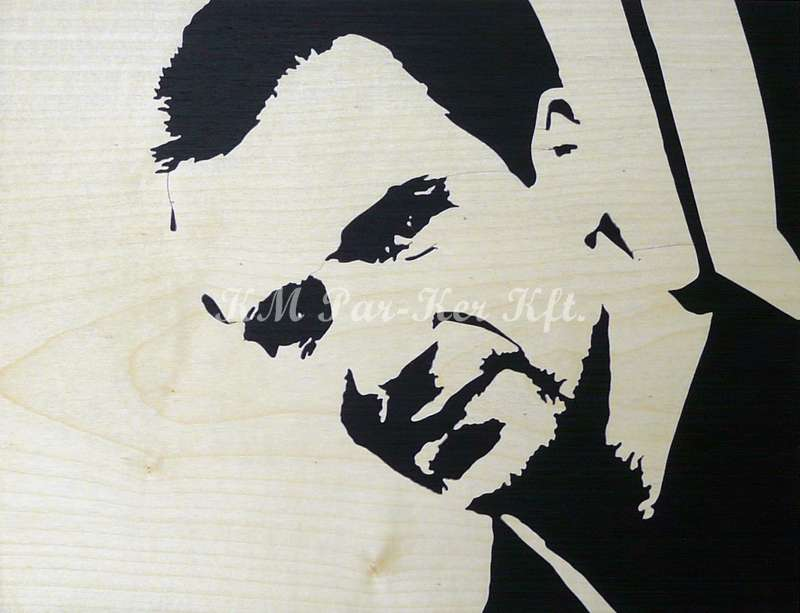 wood inlay art -Ralph Fiennes