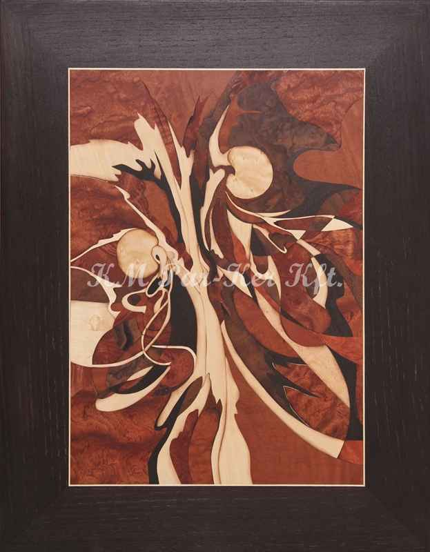 wood inlay art -Solar-flare