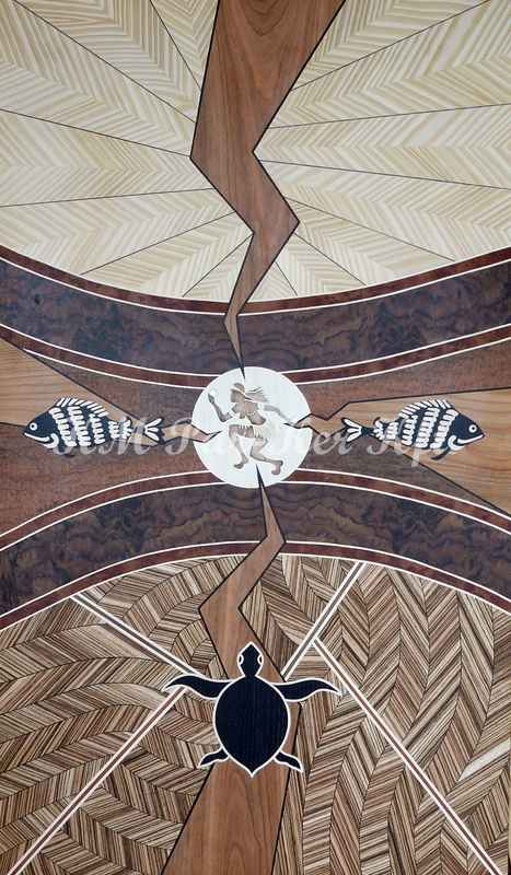wood inlay art -Terasure of Australia