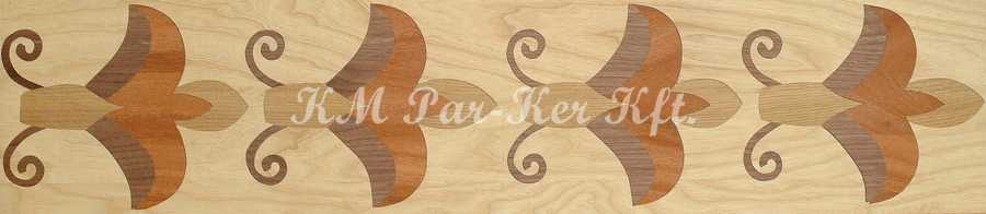 wood inlay floor border 09