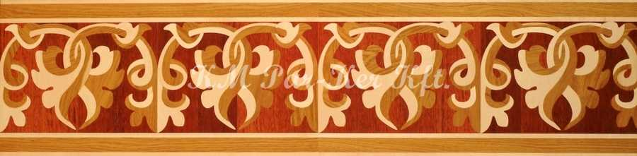 wood inlay floor border 12