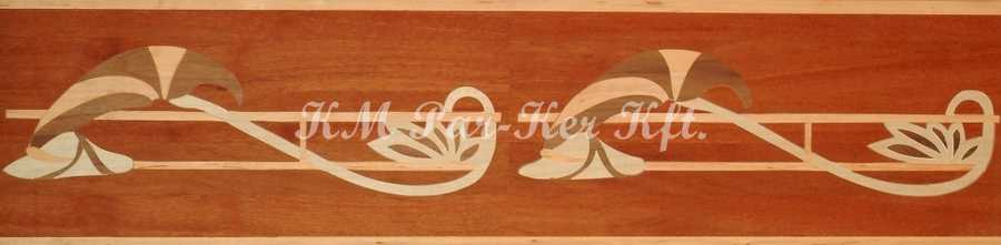 wood inlay floor border, Klaudia 2
