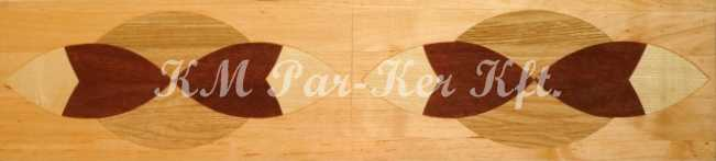 wood inlay floor border, Laura 4