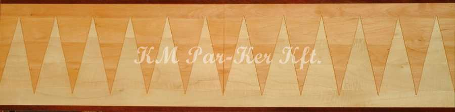 wood inlay floor border, Piero 1