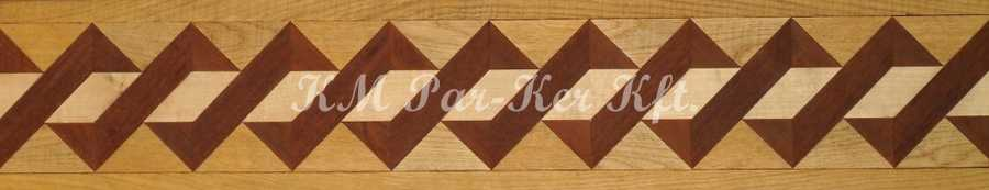 wood inlay floor border, Woven K