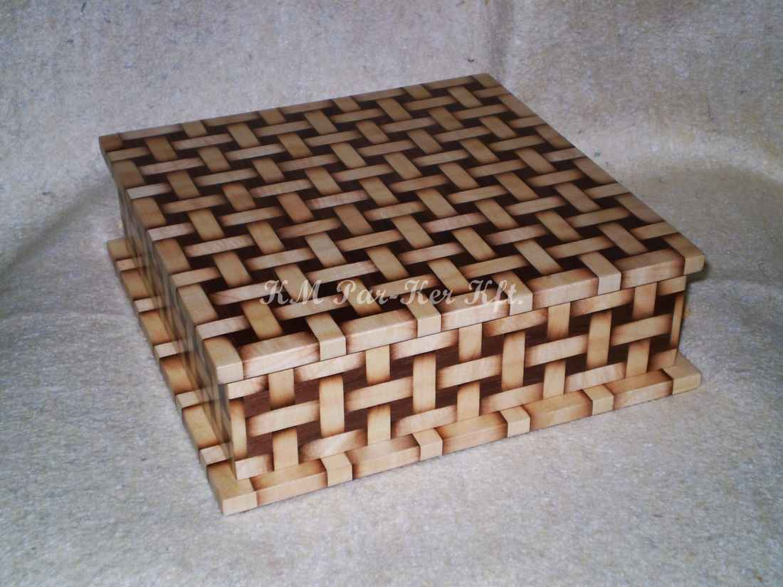 wood inlay box 15, Woven