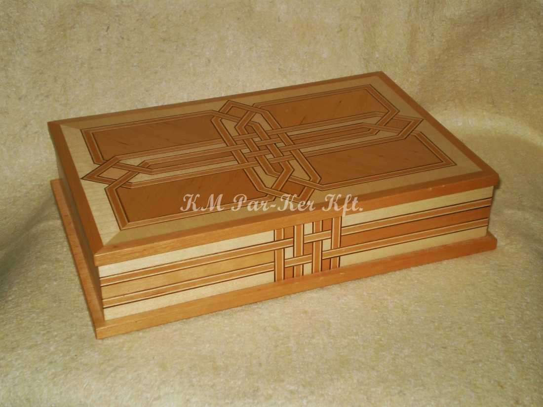 wood inlay box 16, Celtic Pattern 1