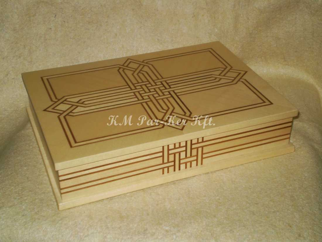 wood inlay box 18, Celtic Pattern 2