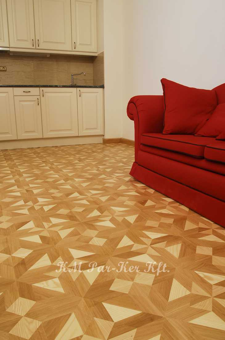 wood inlay floor 08, Strauss (oak, ash, maple), Fortuna