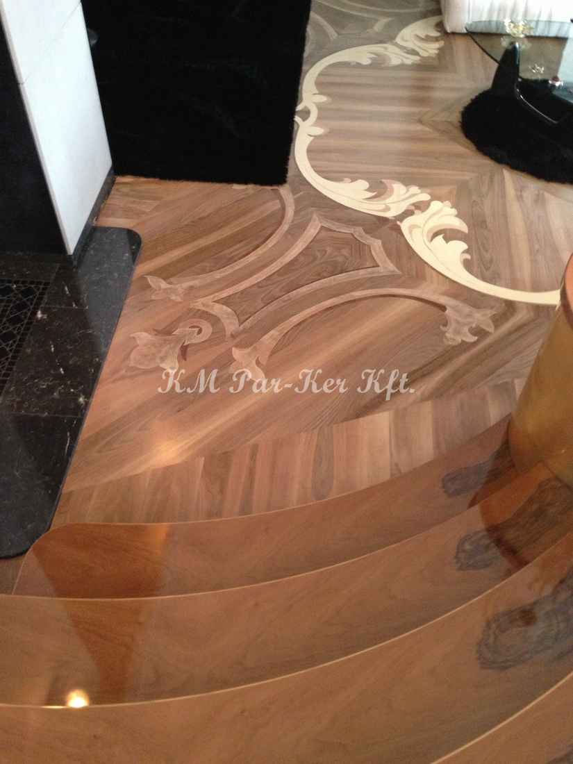 wood inlay floor 09, Minerva (walnut, maple, mahogany)