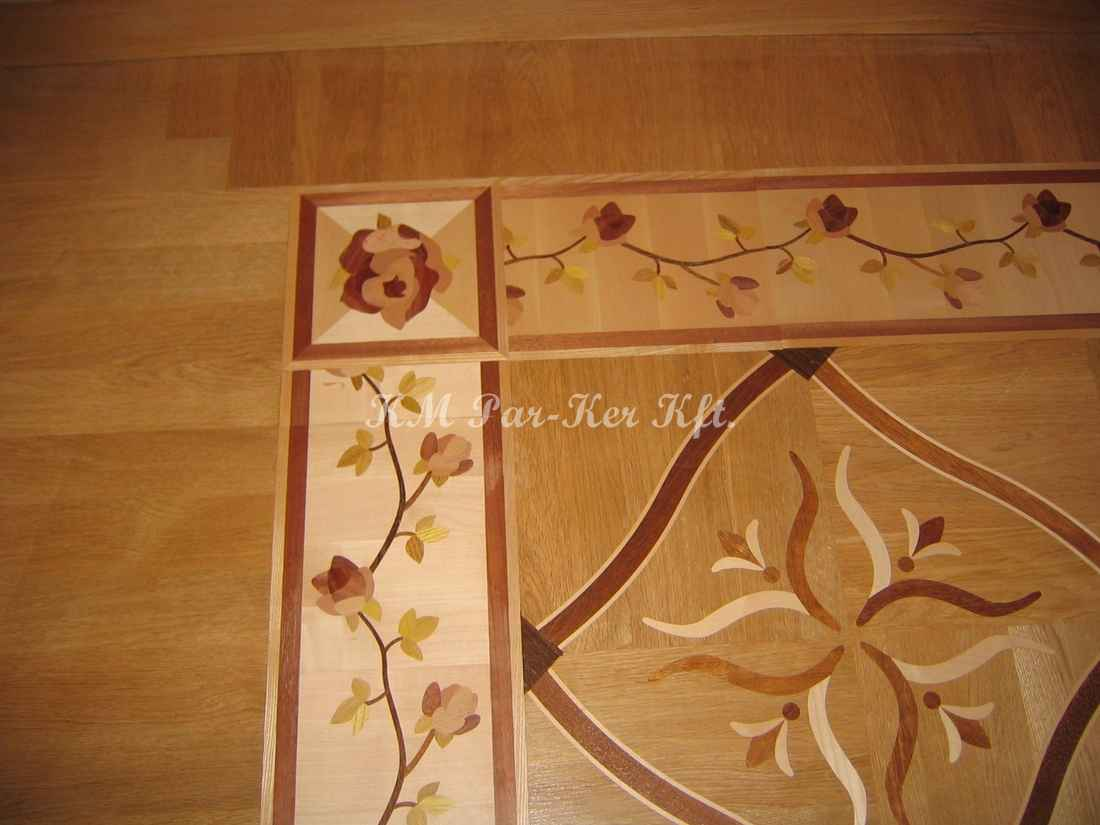 wood inlay floor 15, Rasputin (oak, mahagony, maple, wenge)