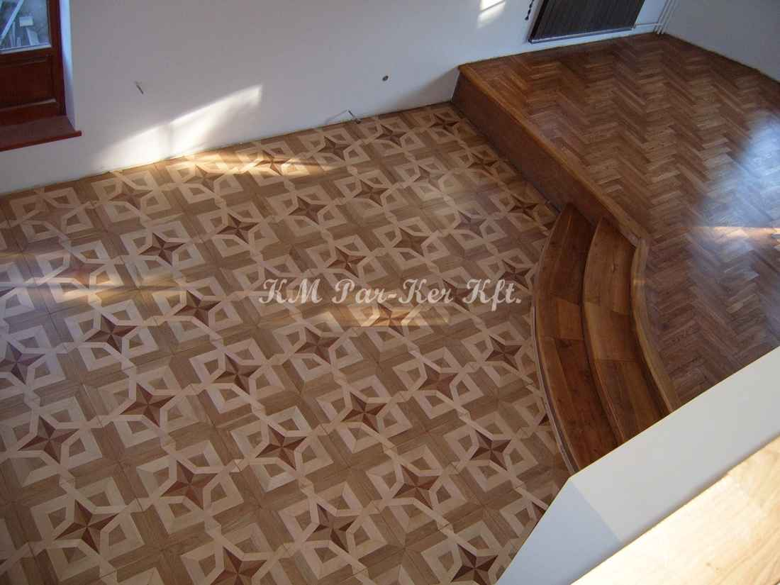 wood inlay floor 19, Constellation (oak, maple, mahagony)