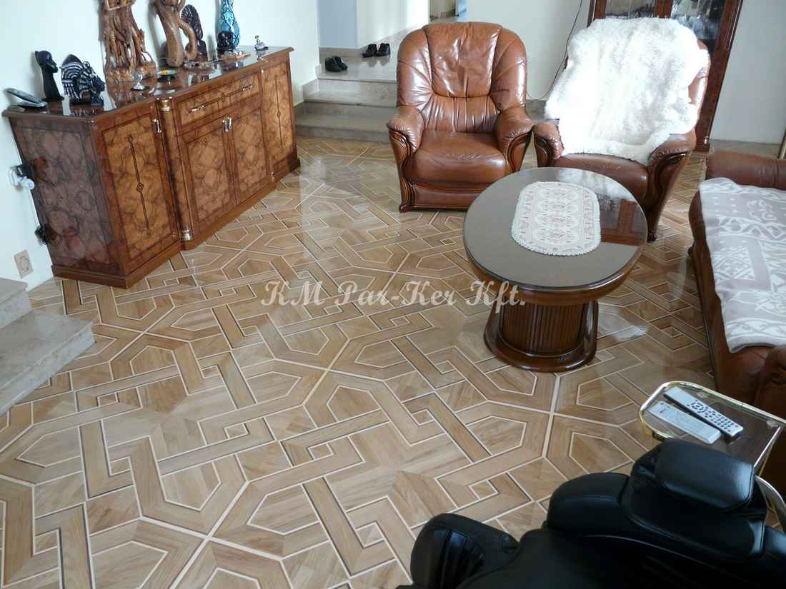 wood inlay floor 26, Venice (oak, walnut, mahagony, maple)