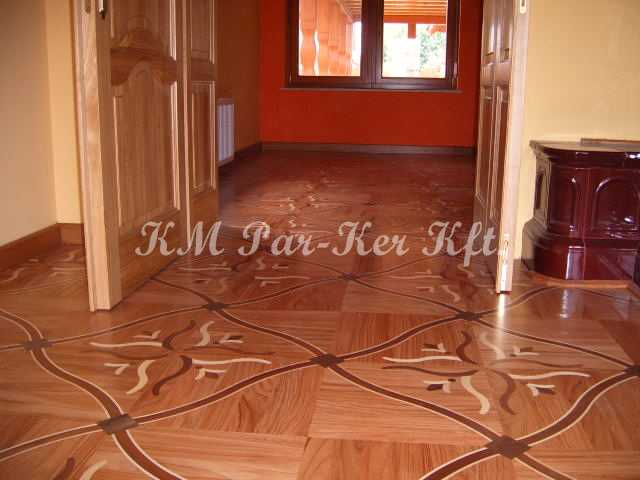 wood inlay floor 29, Rasputin (oak, mahagony, maple, wenge)