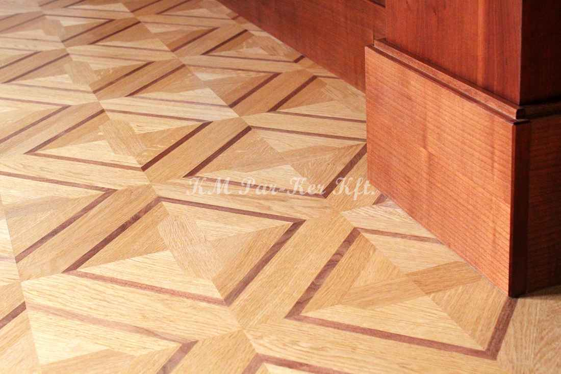 wood inlay floor 30, Ella 2 (oak, walnut)