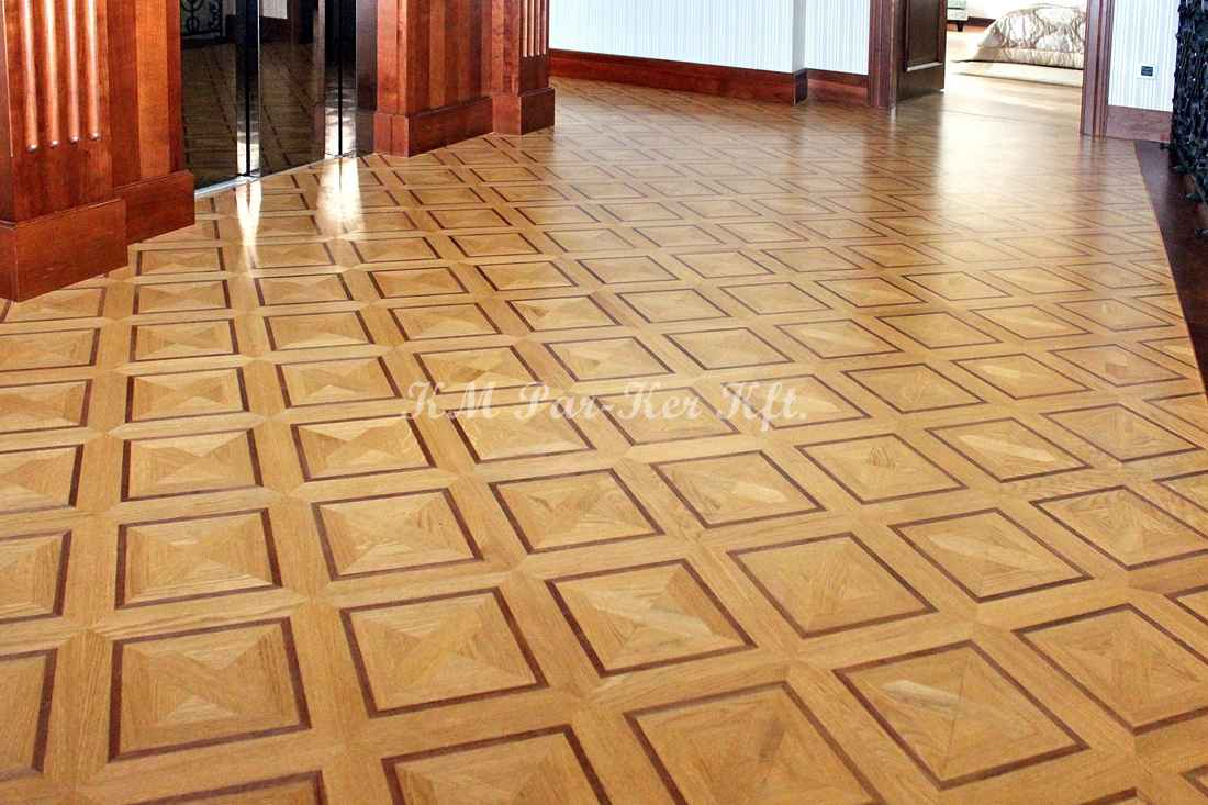 wood inlay floor 33, Ella 2 (oak, walnut)