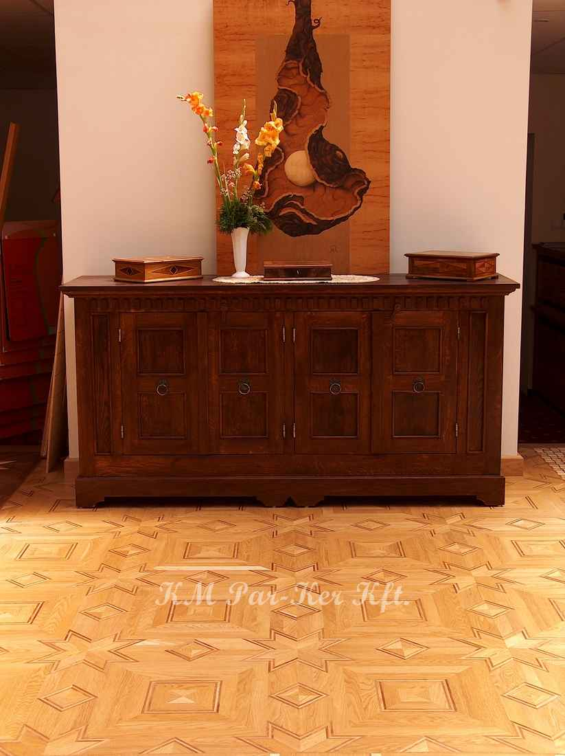wood inlay floor 38, Capri (oak, walnut)