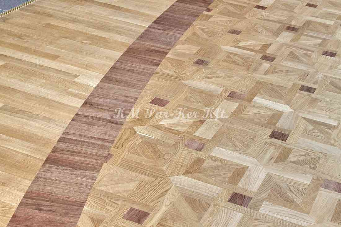 wood inlay floor 58, Bruno (oak, walnut), Hungarian King Hotel