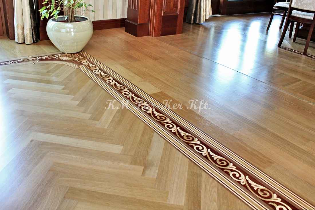 wood inlay floor border 09, fishbone
