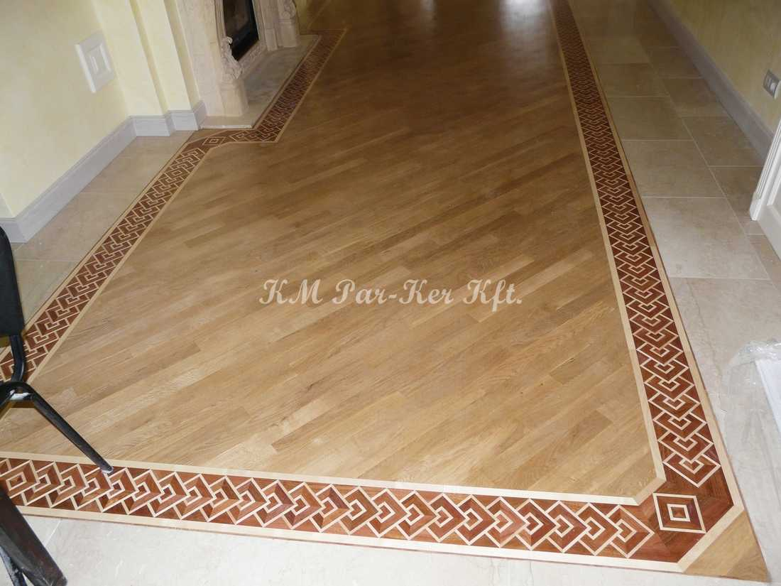wood inlay floor border 16, mahogany Python