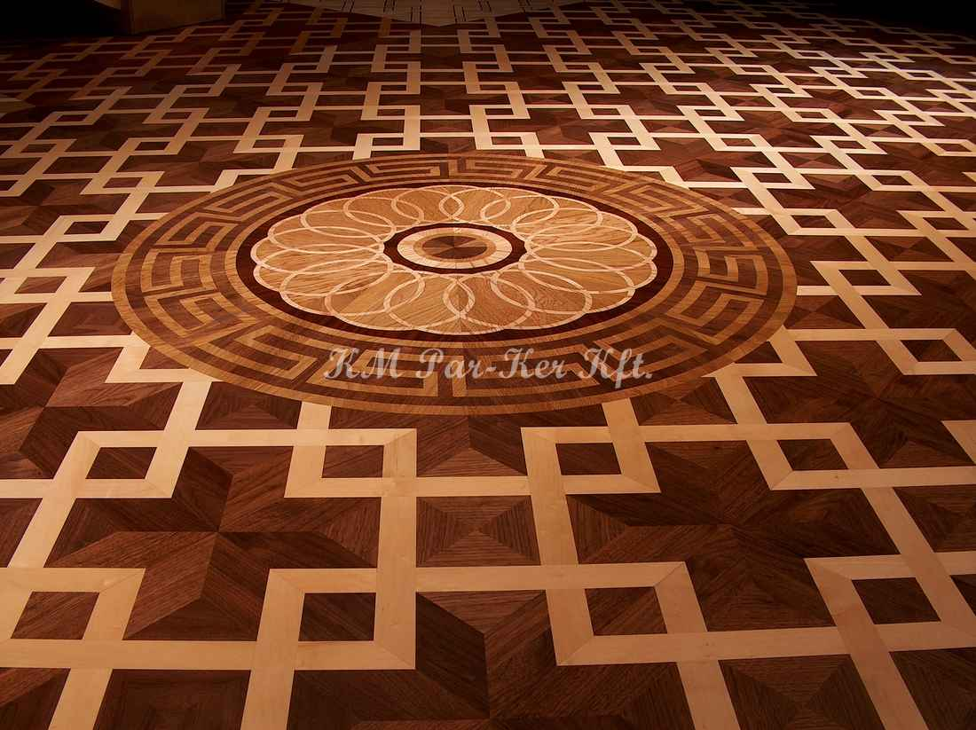wood inlay floor medallion 08, Aramis