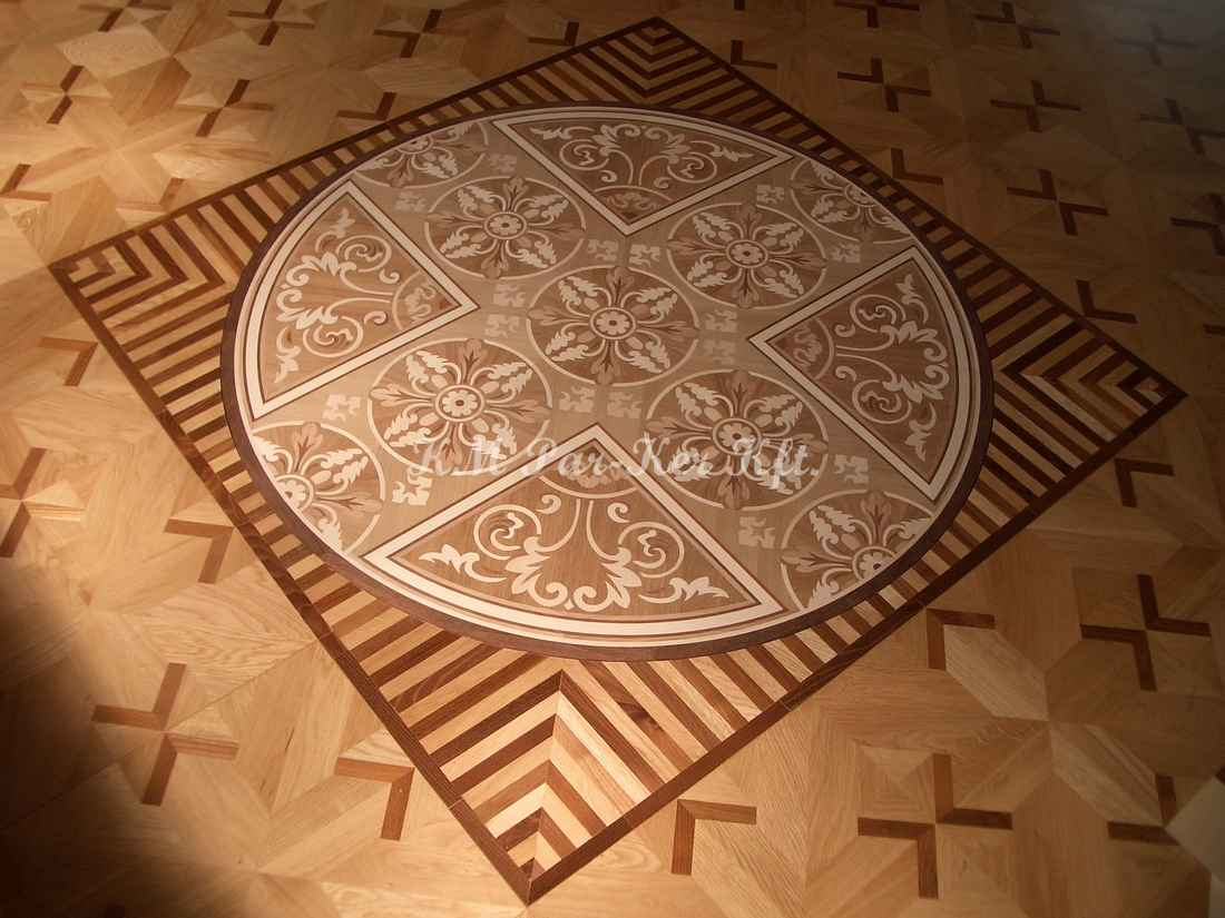 wood inlay floor medallion 14, Medici