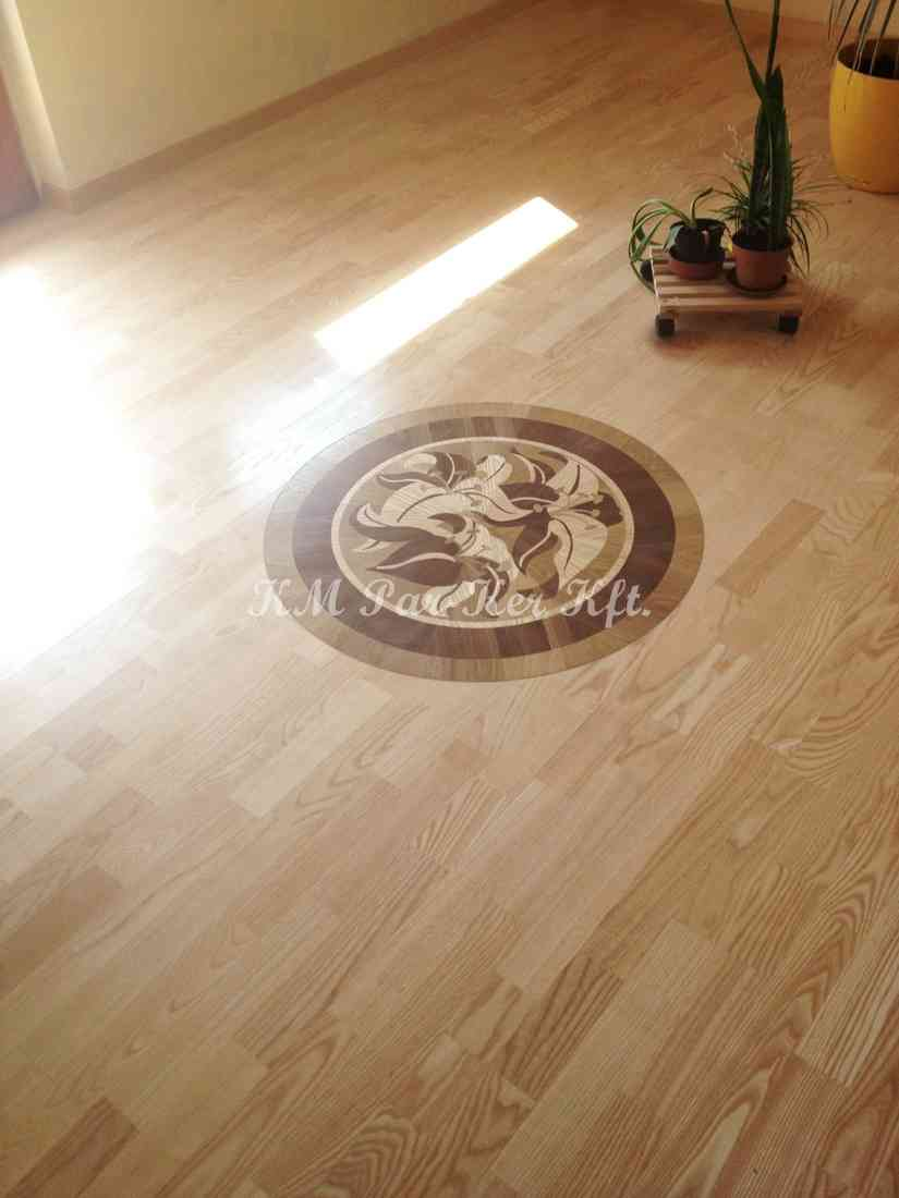 wood inlay floor medallion 18, Lilian