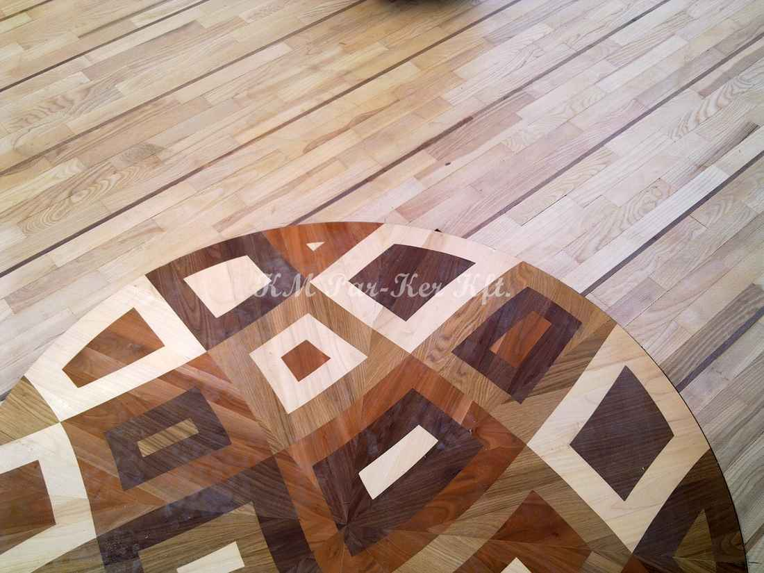 wood inlay floor medallion 20, Noe