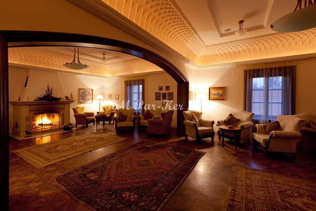 wood inlay floor 01, Andrássy Chateau, Tarcal