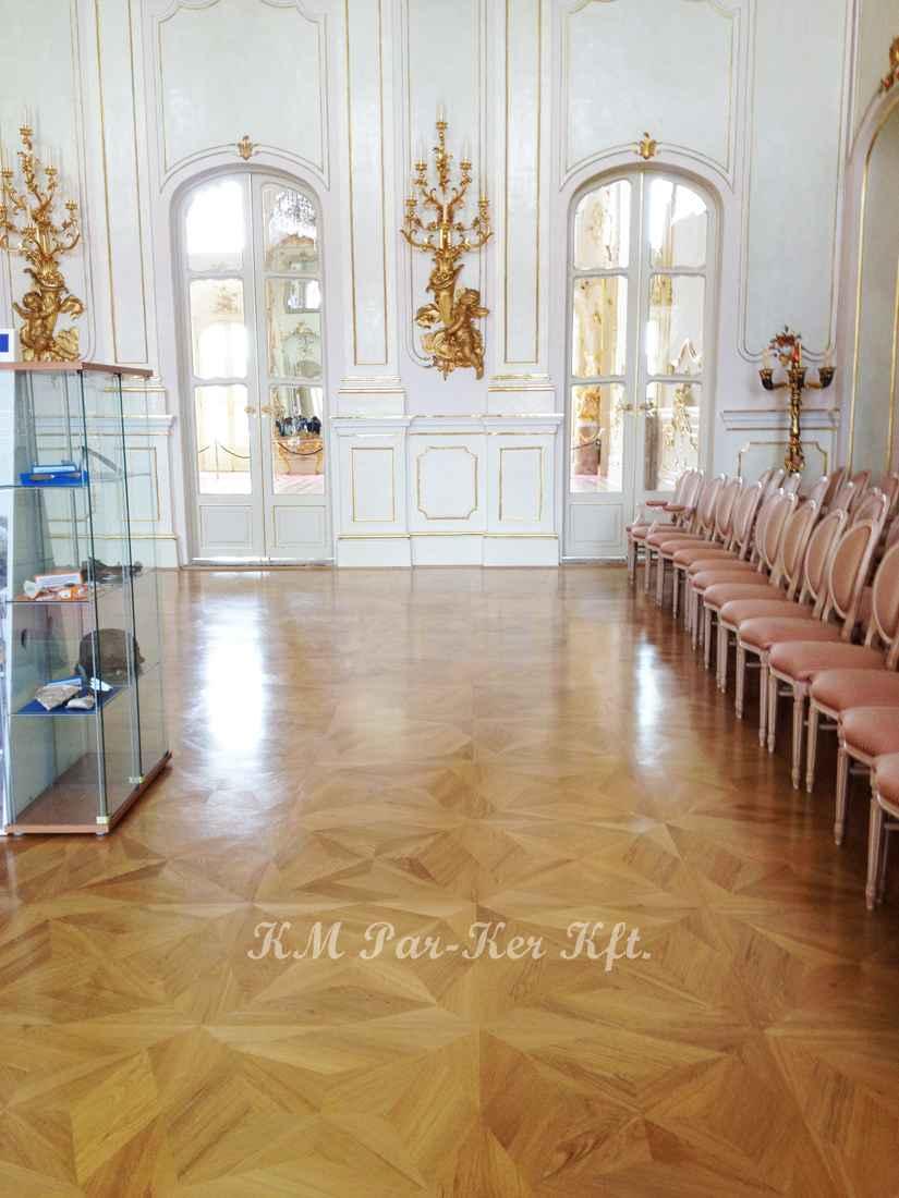 wood inlay floor 09, Fertőd Esterhazy Castle