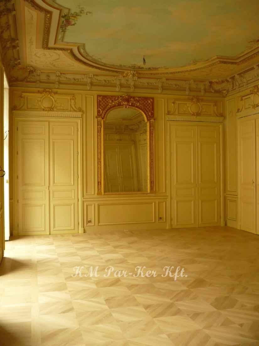 wood inlay floor 14, Emir of Qatar Palace, Paris
