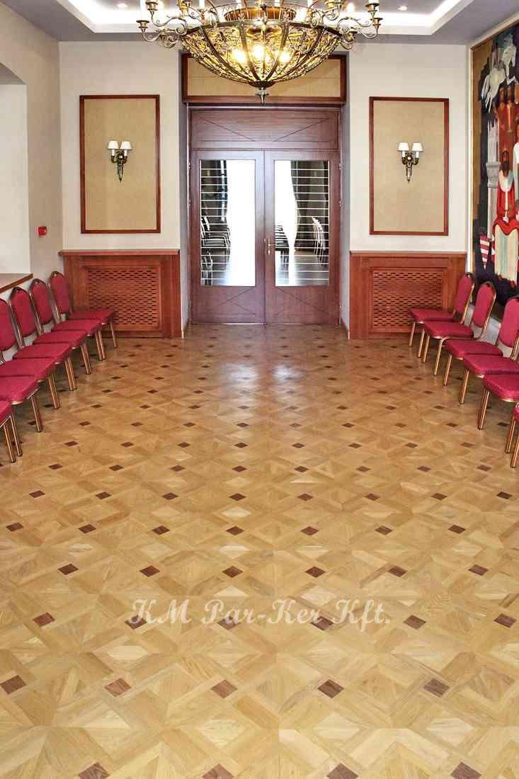 wood inlay floor 18, Hungarian King Hotel, Székesfehérvár