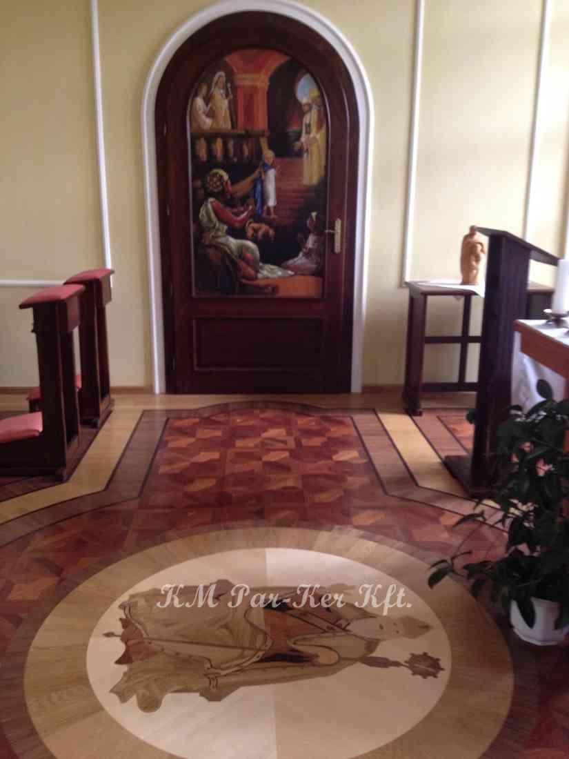 wood inlay floor 28, Szombathely, Bishop's Office