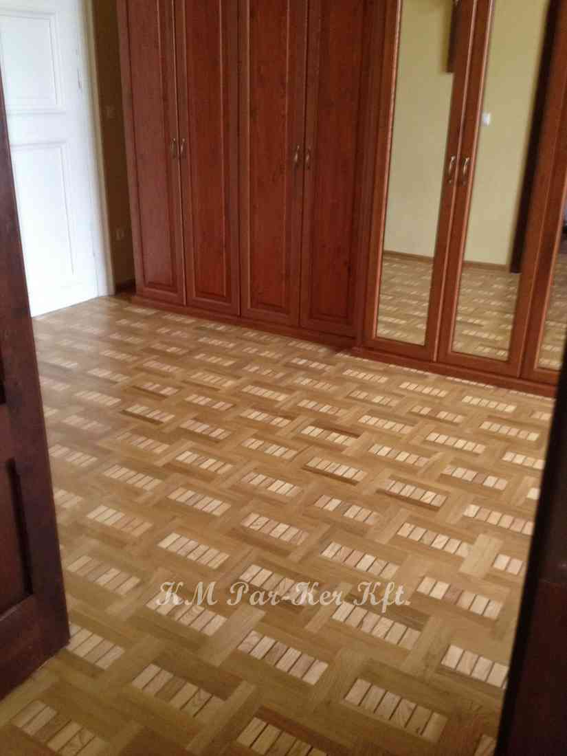 wood inlay floor 29, Szombathely, Bishop's Office