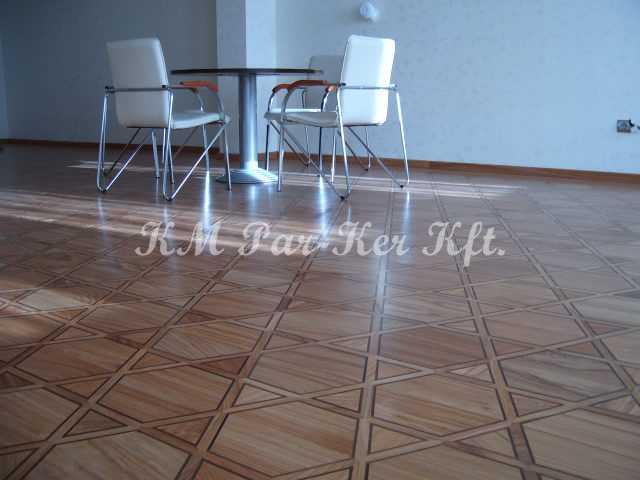 wood inlay floor, room 01, Faith Center
