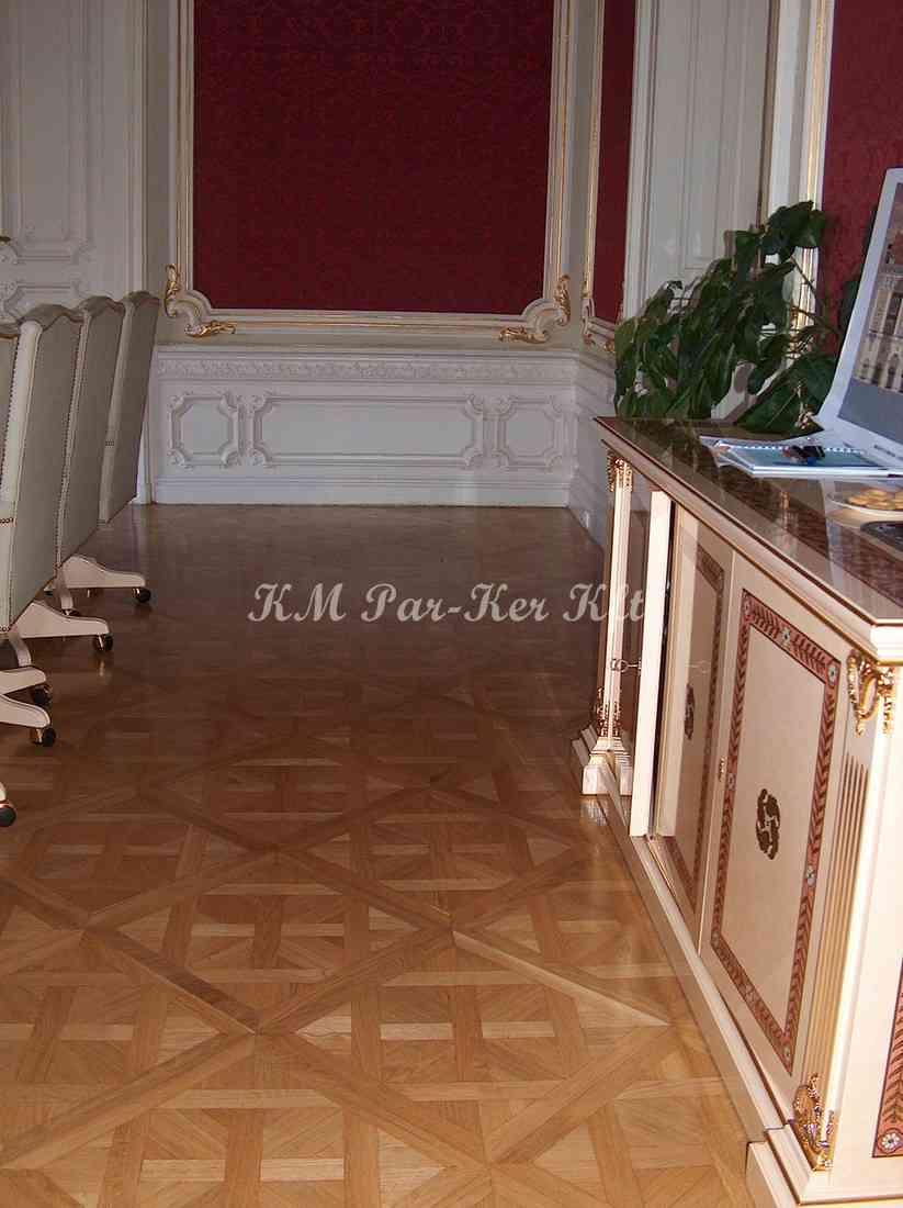 wood inlay floor, room 05, Israel Trade Center -Budapest