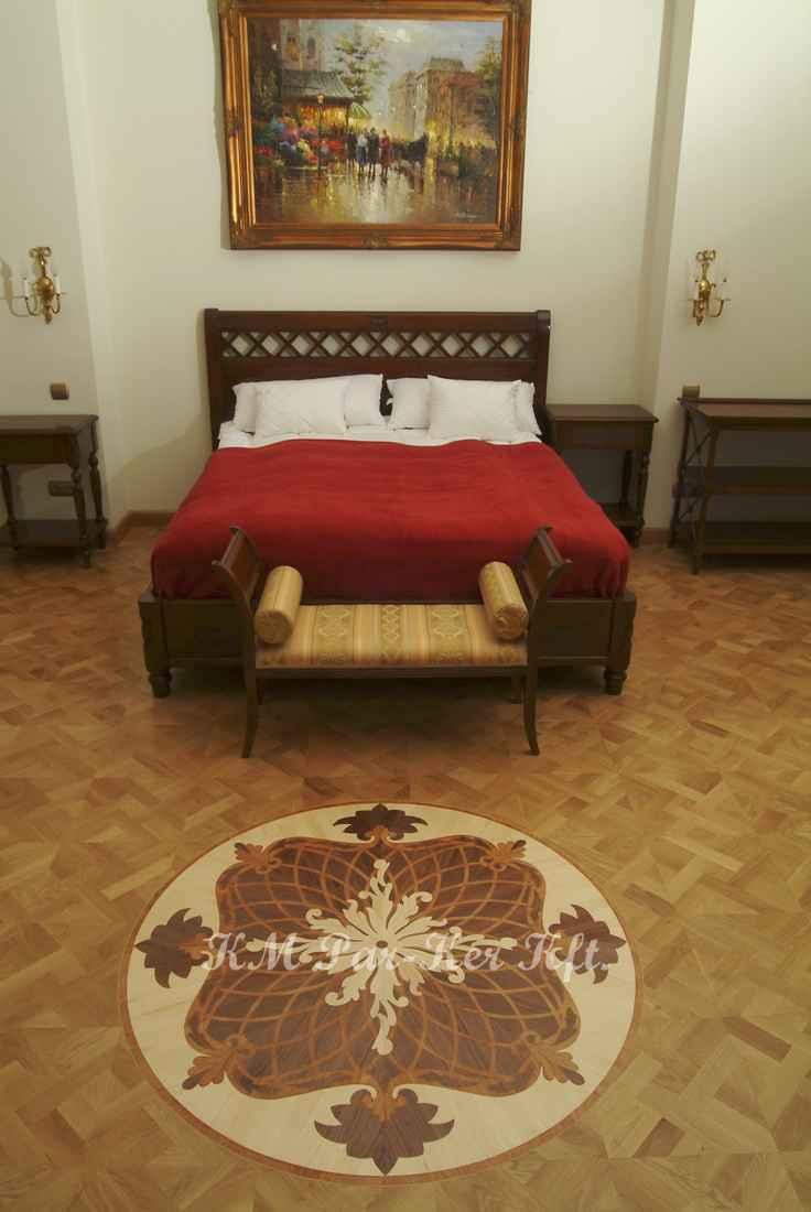 wood inlay floor, room 10, Saint George Hotel -Budapest