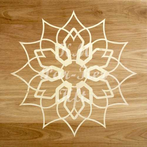wood inlay floor, Flower 1