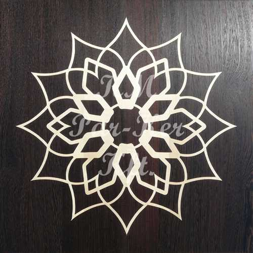 wood inlay floor, Flower 2