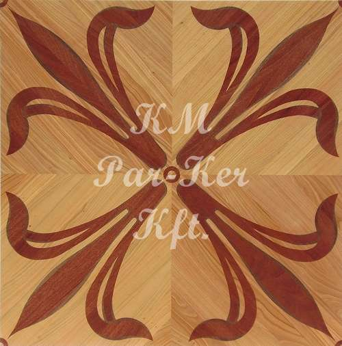 wood inlay floor, lily 1