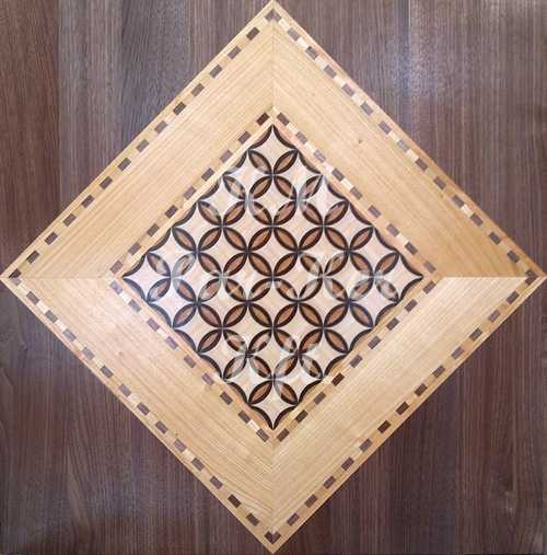 wood inlay floor, Tuzott square