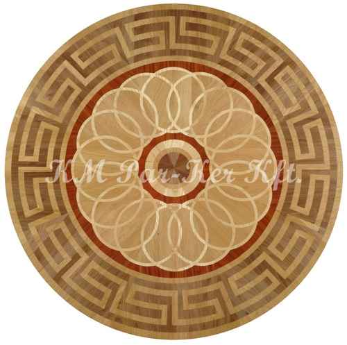 wood inlay floor medallion, Aramis