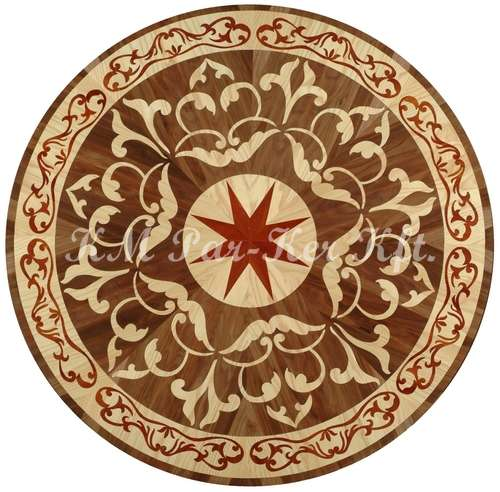 wood inlay floor medallion, Arpad
