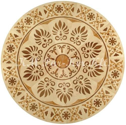 wood inlay floor medallion, Bodog 3